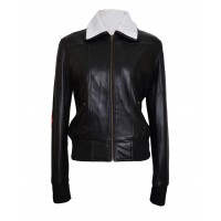 Bombshell Harley Quinn Black Leather Jacket