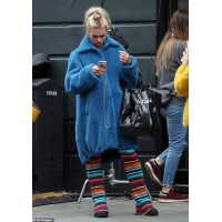 I Hate Suzie Billie Piper Blue Wool Coat