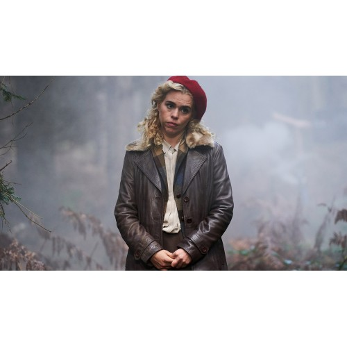 I Hate Suzie Pickles Brown Leather Coat