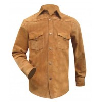 Men's Suede Leather Shirt