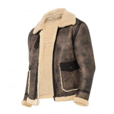 Mens B-3 Bomber Shearling Leather Jacket