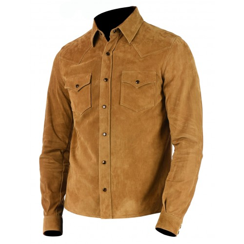 Mens Brown Suede Leather Blazer