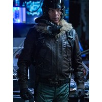 Michael Keaton Spider Man Homecoming Fur Collar Leather Jacket