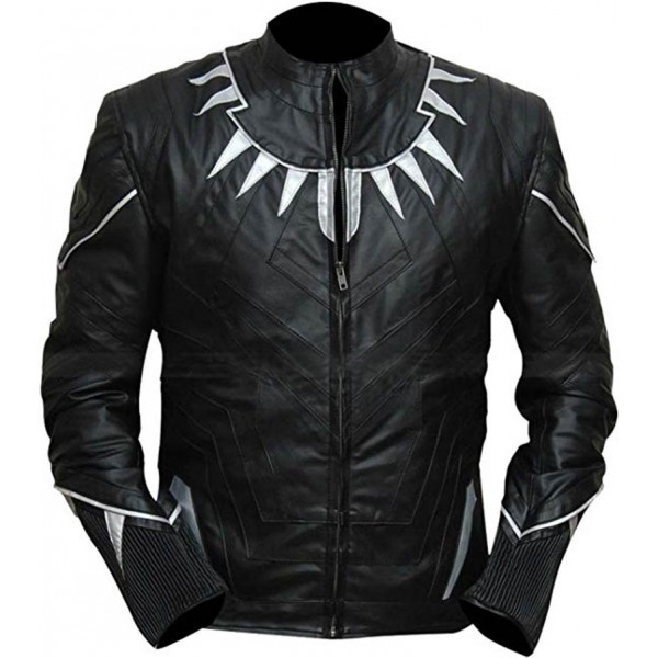 Captain America Civil War Black Panther Leather Jacket