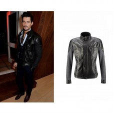 David Gandy Black Leather Jacket