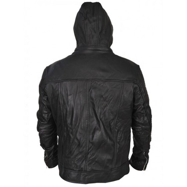 Mission Impossible Ghost Protocol Tom Cruise Hoodie Wrinkled MI4 Leather Jacket