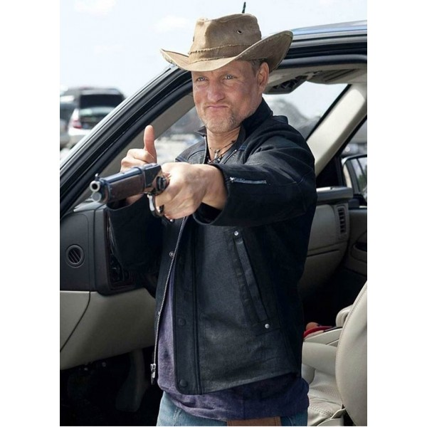 Zombieland Woody Harrelson Leather Jacket