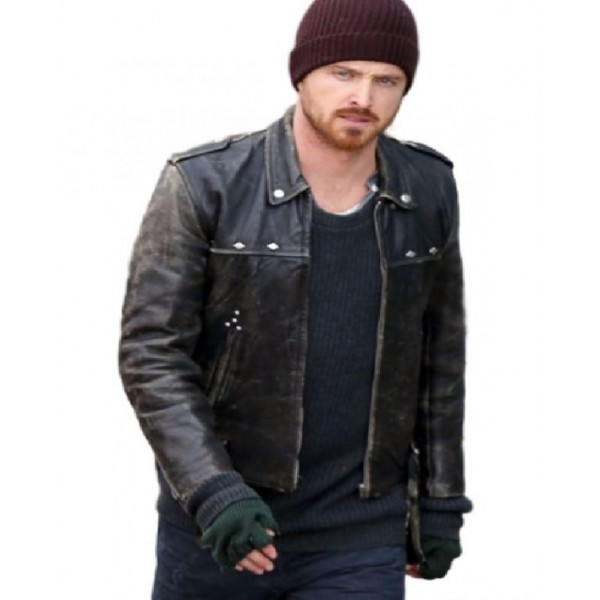 A Long Way Down Distressed Aaron Paul Leather
