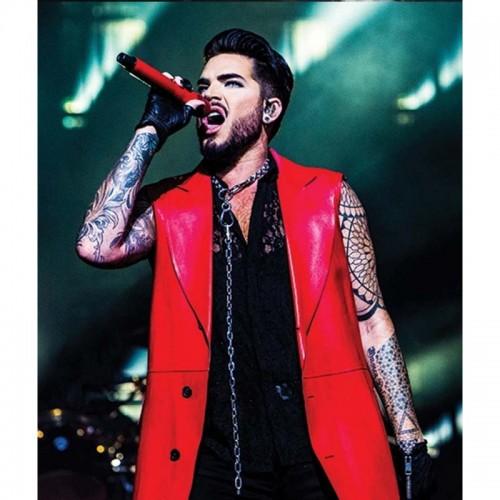Adam Lambert Concert Leather 2019 Coat
