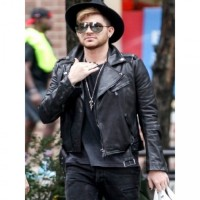Adam Lambert Singer Leather Jacket