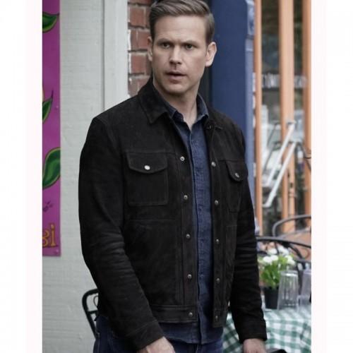 Alaric Saltzman Legacies Genuine  Leather Jacket