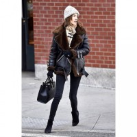 Alexa Chung Winter Shearling Jacket For Women