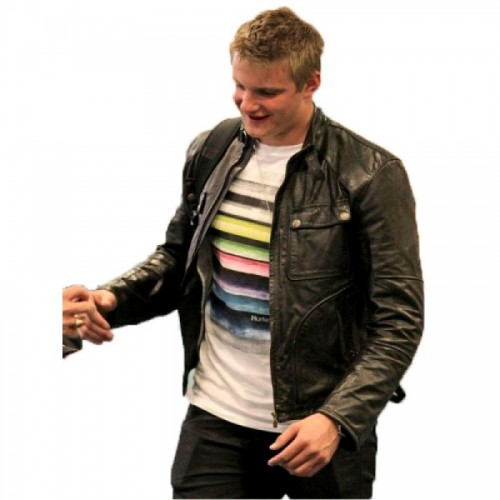 Alexander Ludwig Mens Black Leather Jacket