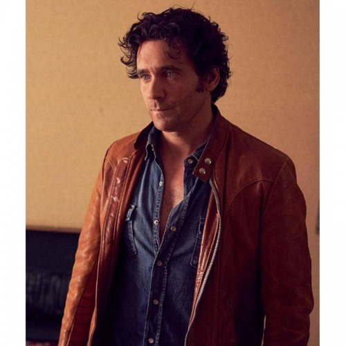 Allan Hawco Caught Brown Leather Jacket