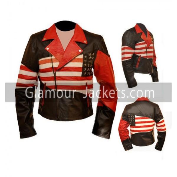 American Flag Vintage Leather Jacket