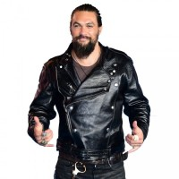 Aquaman Jason Momoa Black Leather Jacket