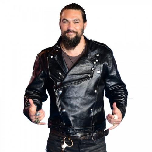 Aquaman Jason Momoa Black Leather Jacket