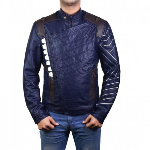 Avengers Bucky Barnes Winter Soldier Blue Jacket