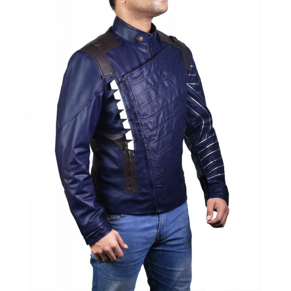 Avengers Bucky Barnes Winter Soldier Blue Jacket