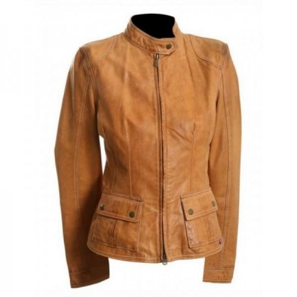 Avengers Scarlett Johanssan Brown Leather Jacket