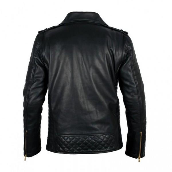 Black Biker Leather Jacket For Men