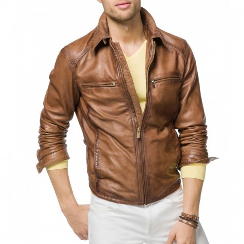 Brown Classic Leather Jacket