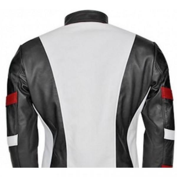 Bruce Lee White Leather Jacket
