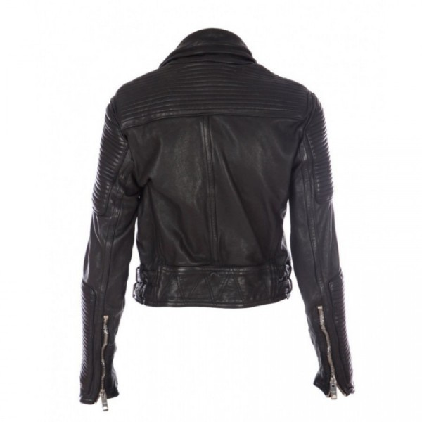 Burberry Prorsum Black Biker Leather Jacket