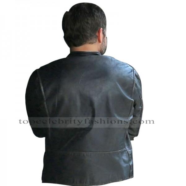 Burnt Bradley Cooper (Adam Jones) Black Biker Jacket