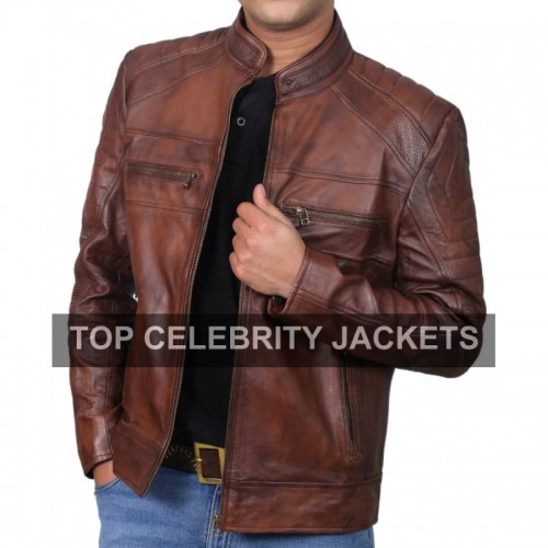 Cafe Racer Vintage Brown Jacket