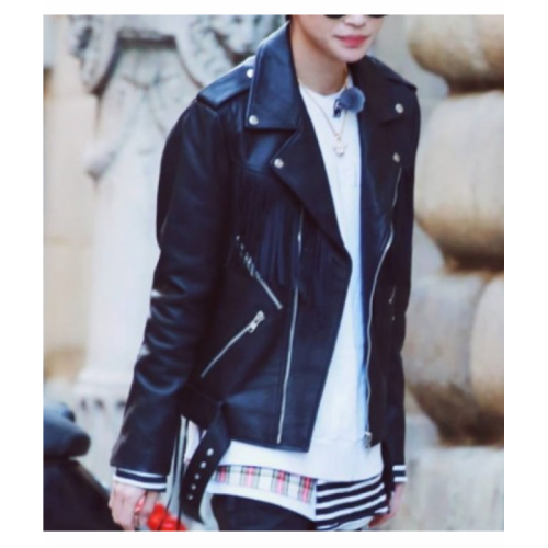 Castlegar Asymmetrical Leather Jacket