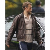 Charlie Hunnam Jungleland Brown Leather Jacket