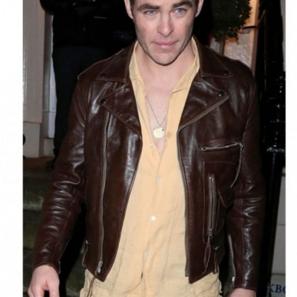 Chris Pine Leather Jacket