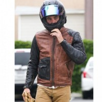 Chris Pine Motorcycle Leather Jacket