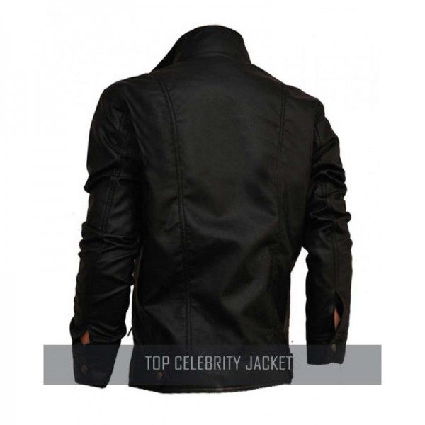 Classic Rider New Men's Double Zipper Motorcycle Biker Leather Jacket