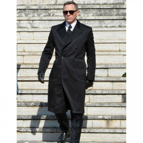 Daniel Craig James Bond Spectre Double Breasted Coat