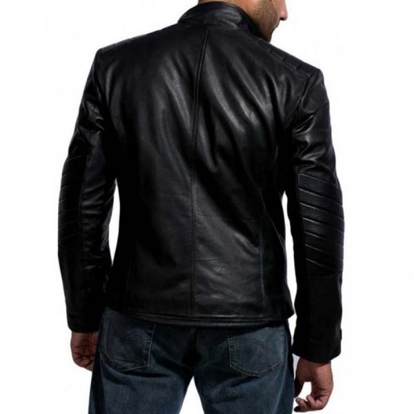 David Beckham Motorcycle Leather Jacket