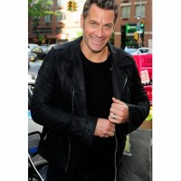 David Burtka Black Leather Jacket