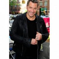 David Burtka Black Leather Jacket
