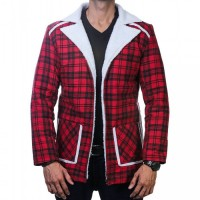 Denver Red Flannel Fur Shearling Jacket