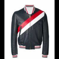Detroit Mens Stripe Black Jacket