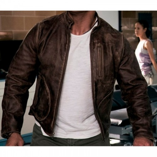 Dwayne Johnson Rampage Brown Leather Jacket