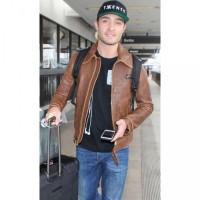 Ed Westwick Leather Jacket