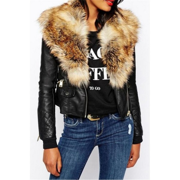 Fabulous Fur Collar With Flap Pockets Overcoats