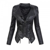 Faux Leather PU Winter Women Jacket