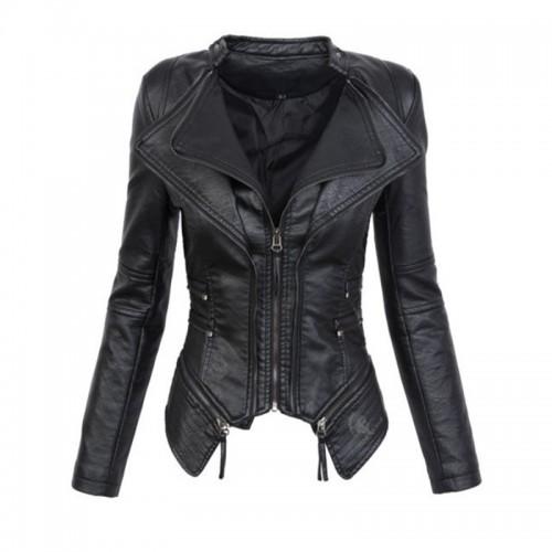 Faux Leather PU Winter Women Jacket