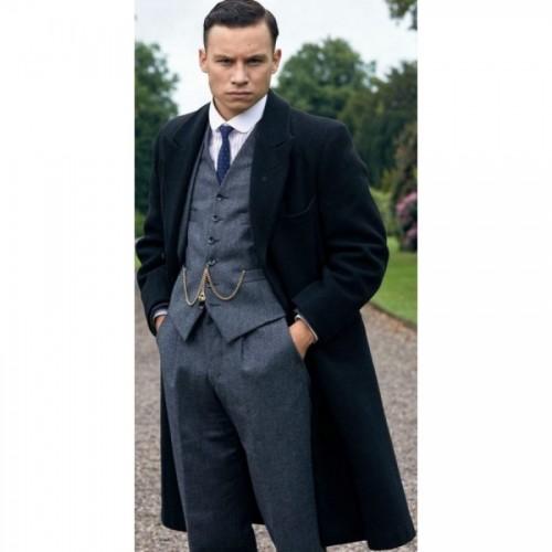 Finn Cole Gray Wool Coat