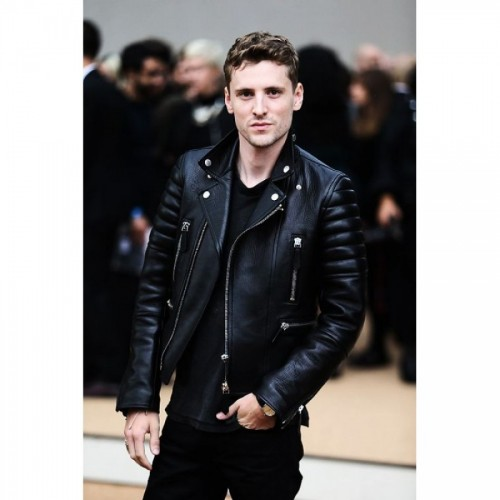 George Barnett Black Leather Jacket