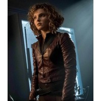 Gotham Camren Bicondova Burgundy Leather Jacket