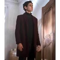 Gotham David Mazouz Burgundy Coat